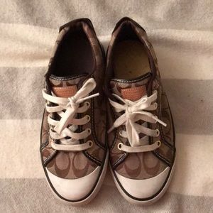 Brown Coach sneakers 7B